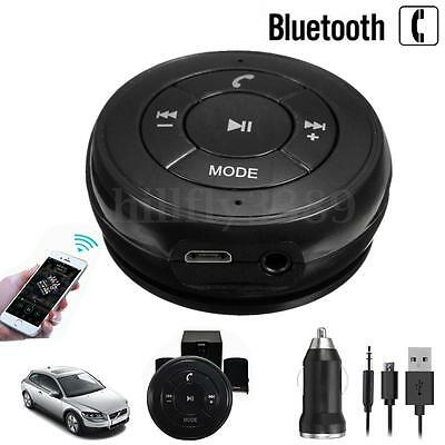 Wireless Bluetooth 3.5mm AUX Audio Stereo Music Mic Handsfree Call Car Receiver