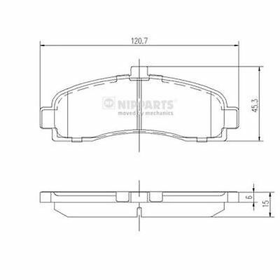 To Clear - New Oe Quality Nipparts - Front - Brake Pads Set - J3601053