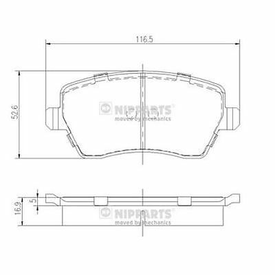 To Clear - New Oe Quality Nipparts - Front - Brake Pads Set - J3601085