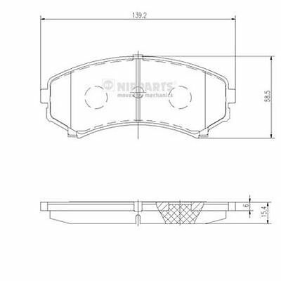 To Clear - New Oe Quality Nipparts - Front - Brake Pads Set - J3605039