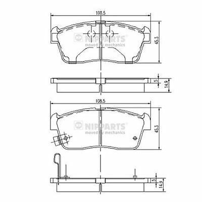 To Clear - New Oe Quality Nipparts - Front - Brake Pads Set - J3608021
