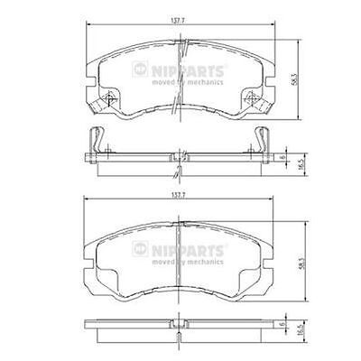 To Clear - New Oe Quality Nipparts - Front - Brake Pads Set - J3609009