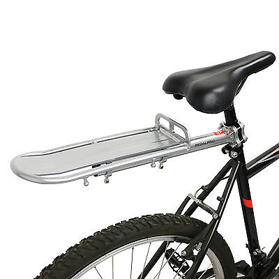 Pedalpro Silver Aluminium Rear Bicycle/bike/cycle Cargo Rack Seat Post Mount