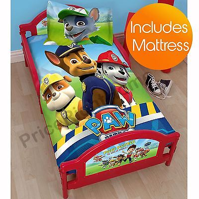 Paw Patrol Junior Toddler Bed + Mattress New Kids Bedroom