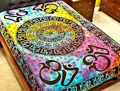 Tie-Dyed OM Chakra Tapestry!