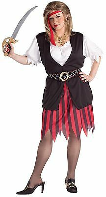 Pirate Woman Buccaneer Dress Halloween Costume Adult Womens Plus