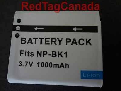 Battery for Sony NP-BK1 MHS-PM5 MHS-CM5 W370 S980 S950 1000mAh - Canada