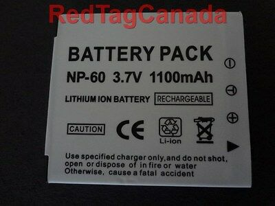 Battery for Casio NP-60 NP60 Exilim EX-Z25 EX-Z90 S12 1100mAh - Canada