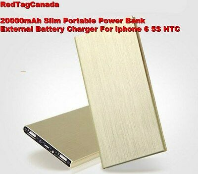 20000mAh Silm Portable Power Bank External Battery Charger For Iphone 6 5S HTC