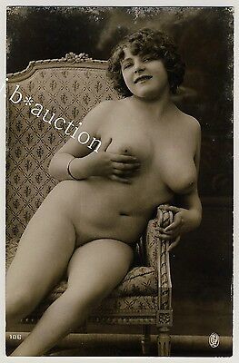 STUNNING NUDE FAMOUS FERNANDE BOOBS / NACKT MODELL * Vintage 20s Risque Photo #3