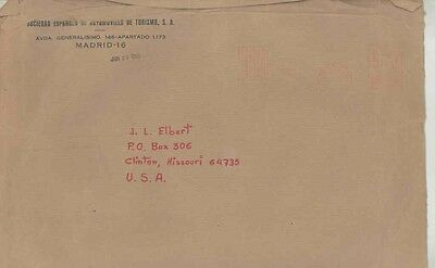 1968 Fiat SEAT Spain ORIGINAL EMPTY Factory Mailing Envelope wv9756