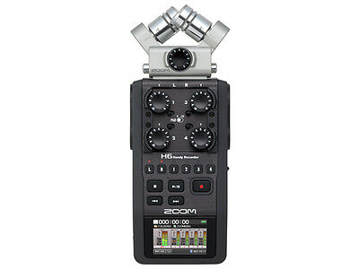 Zoom H6 24-Bit 96kHz WAV/MP3 Handy Audio Recorder w/USB Computer Interface