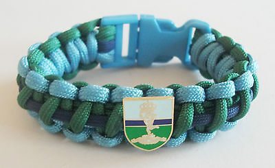 Royal Signals Paracord Wristband With Badges