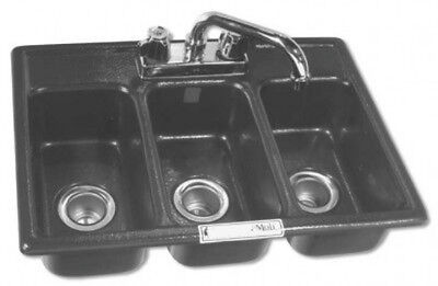 3 Compartment Drop-in Mini Sink NFS approved  Triple concession NEW BHS -1318