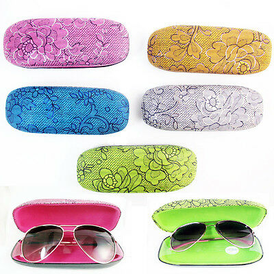 1 Hard Clam Shell Glasses Case Durable Portable Sunglasses Box Protector New