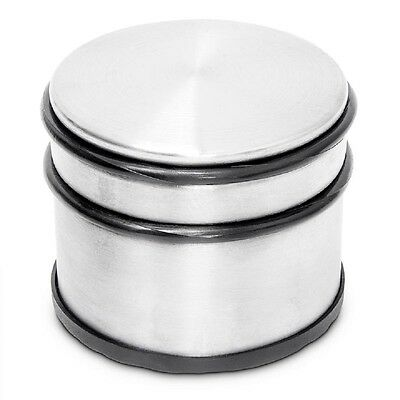 Decorative Stainless Steel Door Stopper With Rubber Bands Round Heavy Weight