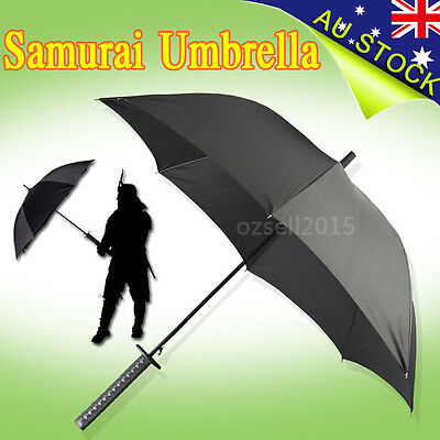 Black Japanese Ninja Handle Umbrella Novelty Folding Umbrella