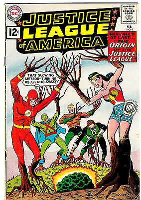 JUSTICE LEAGUE OF AMERICA #9 VG+ Origin of the JLA! Vintage Silver-Age! 1962 DC