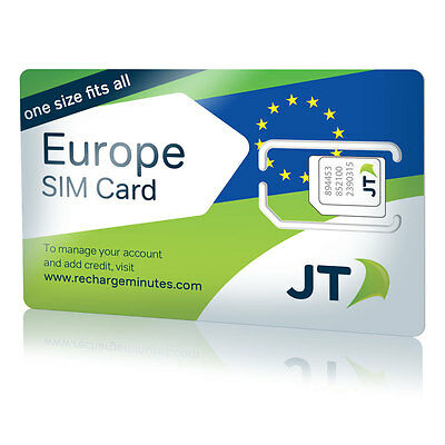 GO-SIM  Europe Travel SIM Card - One low rate for calls, SMS and data