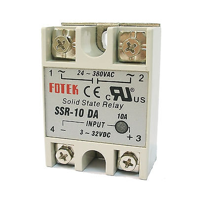 2 x PID Temperature Controller SSR-10DA Solid State Relay 10A Output 24-380V