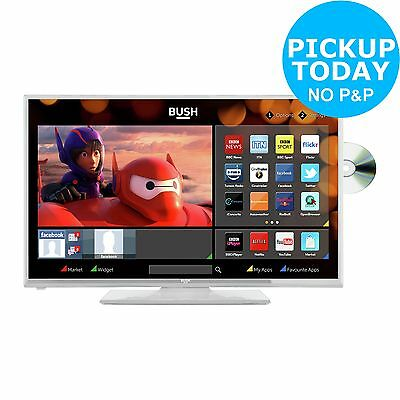 Bush 24 Inch 720p HD Ready Freeview HD Smart LED TV/DVD Combi White -From Argos
