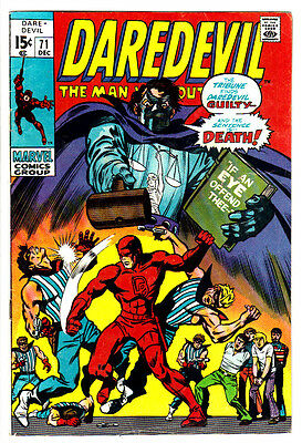 DAREDEVIL #71 (VG/FN) 2nd Appearance of the TRIBUNE! Bronze-Age! 1970 Classic