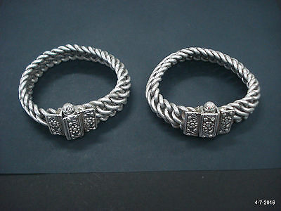 ancient antique tribal old silver anklet feet bracelet ankle chain bracelet