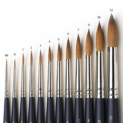 Winsor & Newton Artists Pure Sable Round Single Brushes For Watercolour Paint