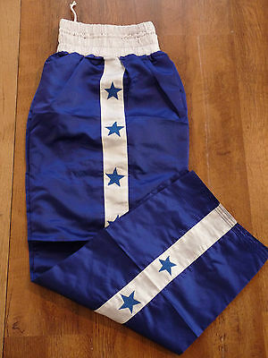 Force Blue & White Stripe & Star Martial Arts Kickboxing Trousers  Brand New