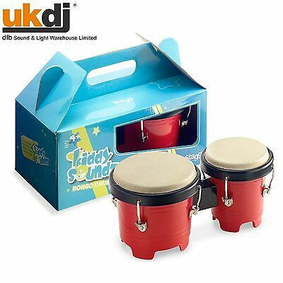 "Kids Bongo Set Music Toy Childrens Mini Drums Safe Plastic Shell 4.5"" / 5"" BNIB"