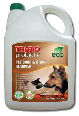 Tri-Bio Pet Odour and Stain Remover 4.4 Litre Eliminates Bad Smells and Stains