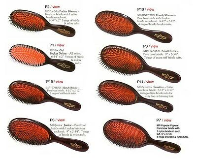 Mason Pearson Hairbruhes. Varieties of models & colors. Free Worldwide Shipping