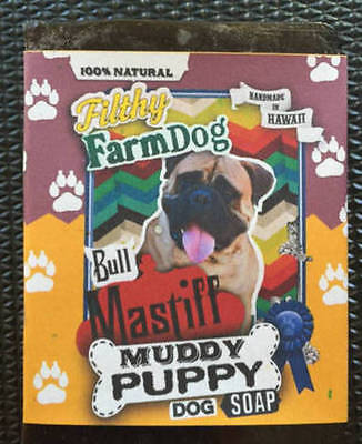 Collect Bullmastiff Items / Bar Dog Soap / Fun Graphics / Unique Gift / Natural
