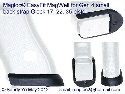 Magwell fit Gen 4 small back strap Glock 17 19 22 35 in holster