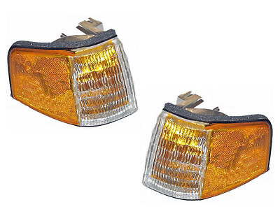 PAIR Corner Lights - Left & Right Side - Fits 88-94 Ford Tempo / Mercury Topaz