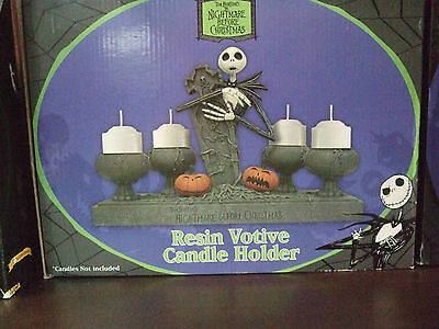 NIGHTMARE BEFORE CHRISTMAS NBX CANDLE HOLDER VOTIVE JACK RESIN by NECA NEW