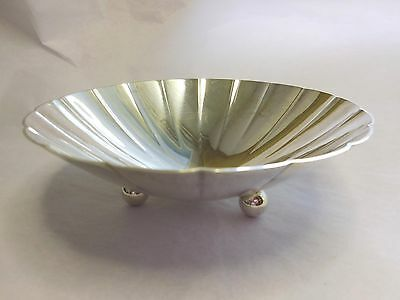 Tiffany Sterling Silver Round Radiant Lobed Bowl On Three Ball Feet No Monogram