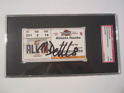Matthew Dellavedova Cavaliers Signed Autographed 2015 Playoff Ticket SGC COA