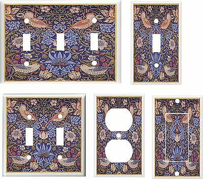 Vintage Bird Floral  Print  Light Switch Cover Plate  U Pick Plate Size