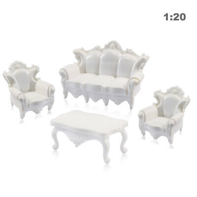 2set G 1:25 Antique Sofa Settee Couch Model Set Architecture Miniature Furniture