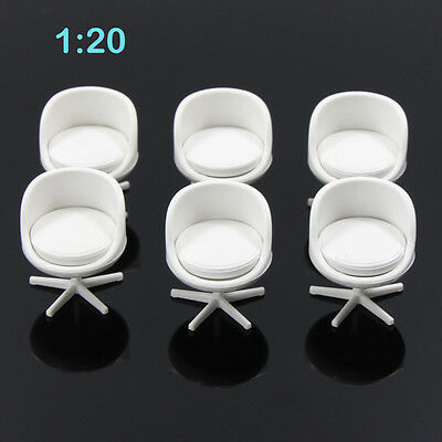 ZY13020 6pcs Model Train Railway Leisure Chair Settee Bench Scenery 1:20 G Scale