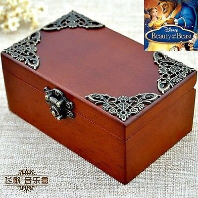 CLASSIC Rectangle jewelry Music Box : BEAUTY AND THE BEAST