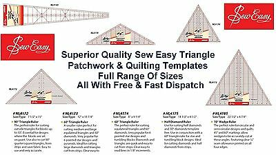 Sew Easy Triangle Patchwork Quilting Ruler Measure Craft All Sizes & Styles