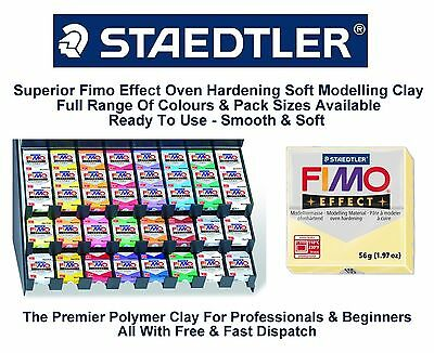 Staedtler Fimo Effect Polymer Modelling Moulding Clay Blocks 37 Colours 56G