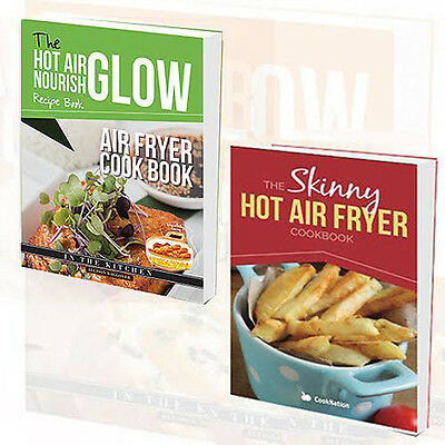 Nourish Glow Collection Air Fryer Cookbook 2 Books Set Skinny Hot Air Fryer New