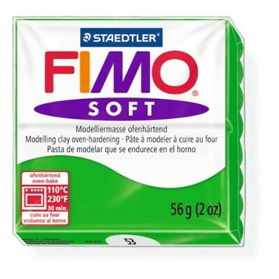 Staedtler Fimo Soft Tropical Green (53) Oven Bake Modelling Clay Mould Block 56g