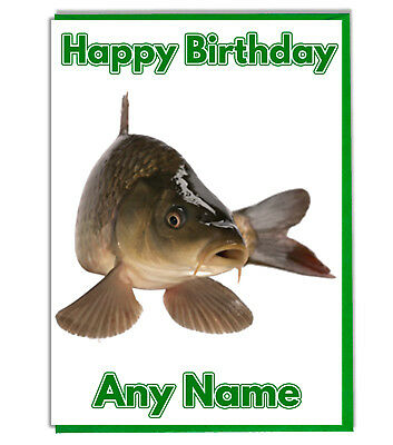 Personalised hand made Fish Birthday Card Dad Father Brother Son Grandad Uncle