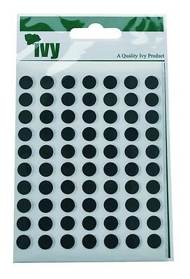 8mm Black Round Dot Sticky Labels Self Adhesive Circle Stickers (490 Stickers)