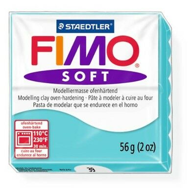 Staedtler Fimo Soft Peppermint (39) Oven Bake Modelling Clay Moulding Block 56g