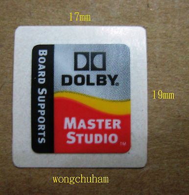 Dolby Master Studio sticker 17mm x 19mm